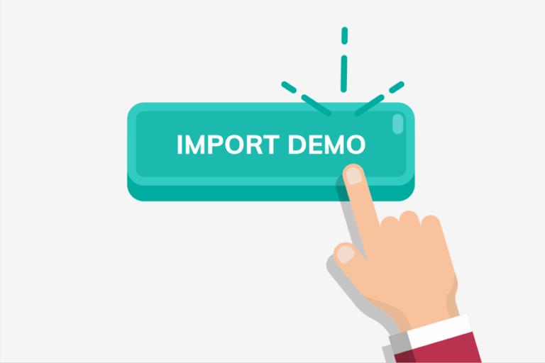wordpress demo import