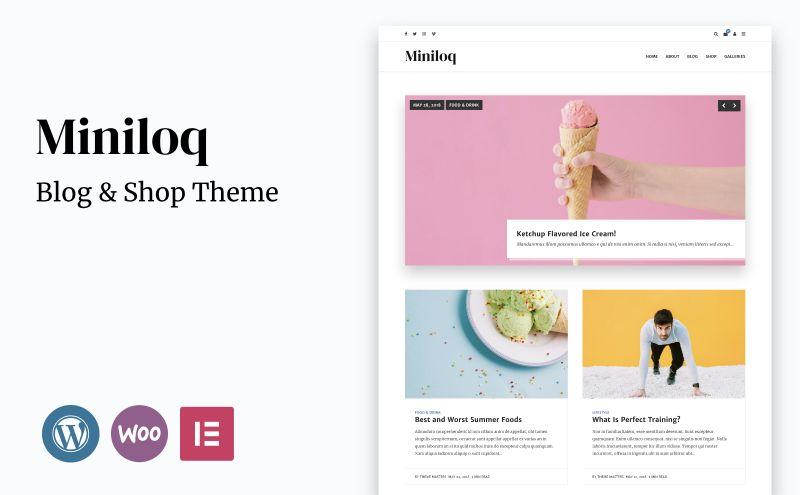 miniloq wordpressblog theme