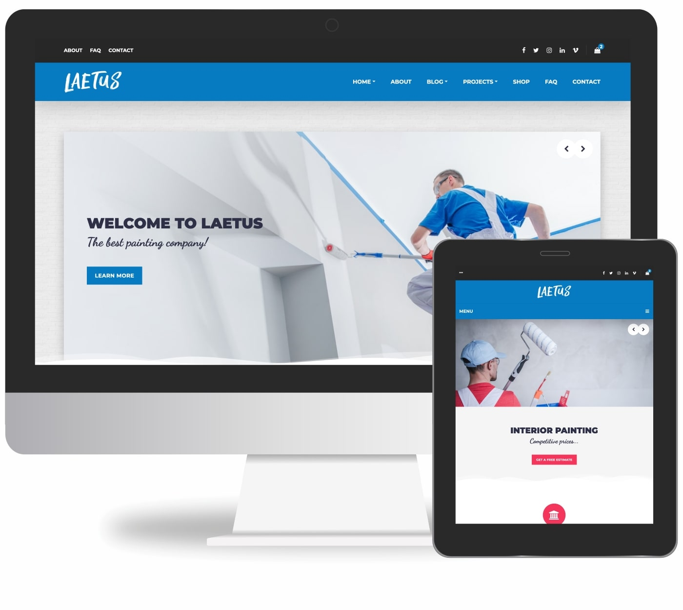 Laetus - Painting Company WordPress Theme