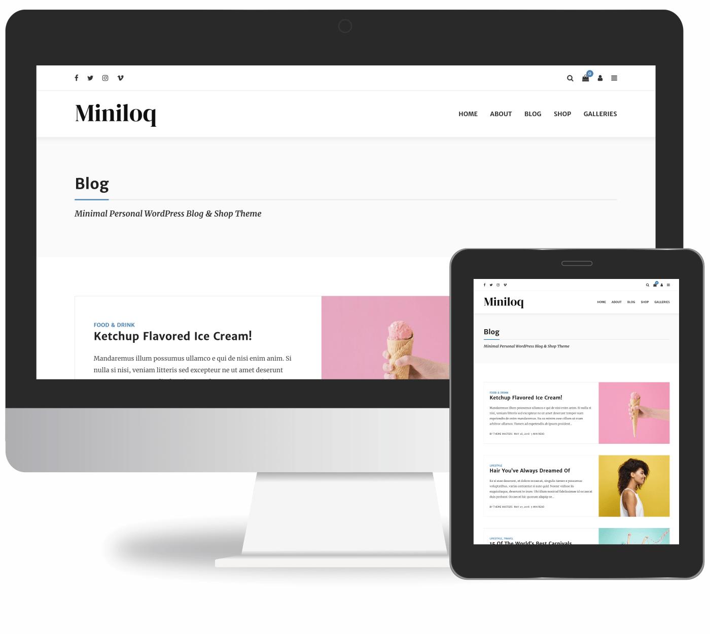 Miniloq - WordPress Blog & Shop Theme