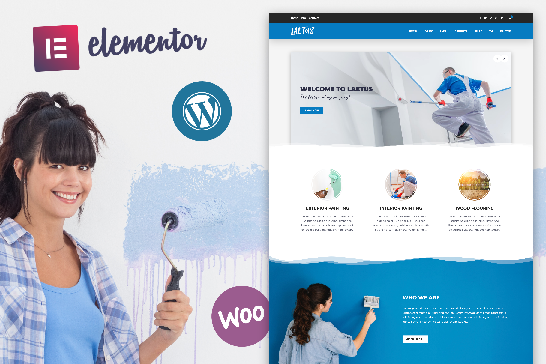 Laetus - Painting Company WordPress Theme