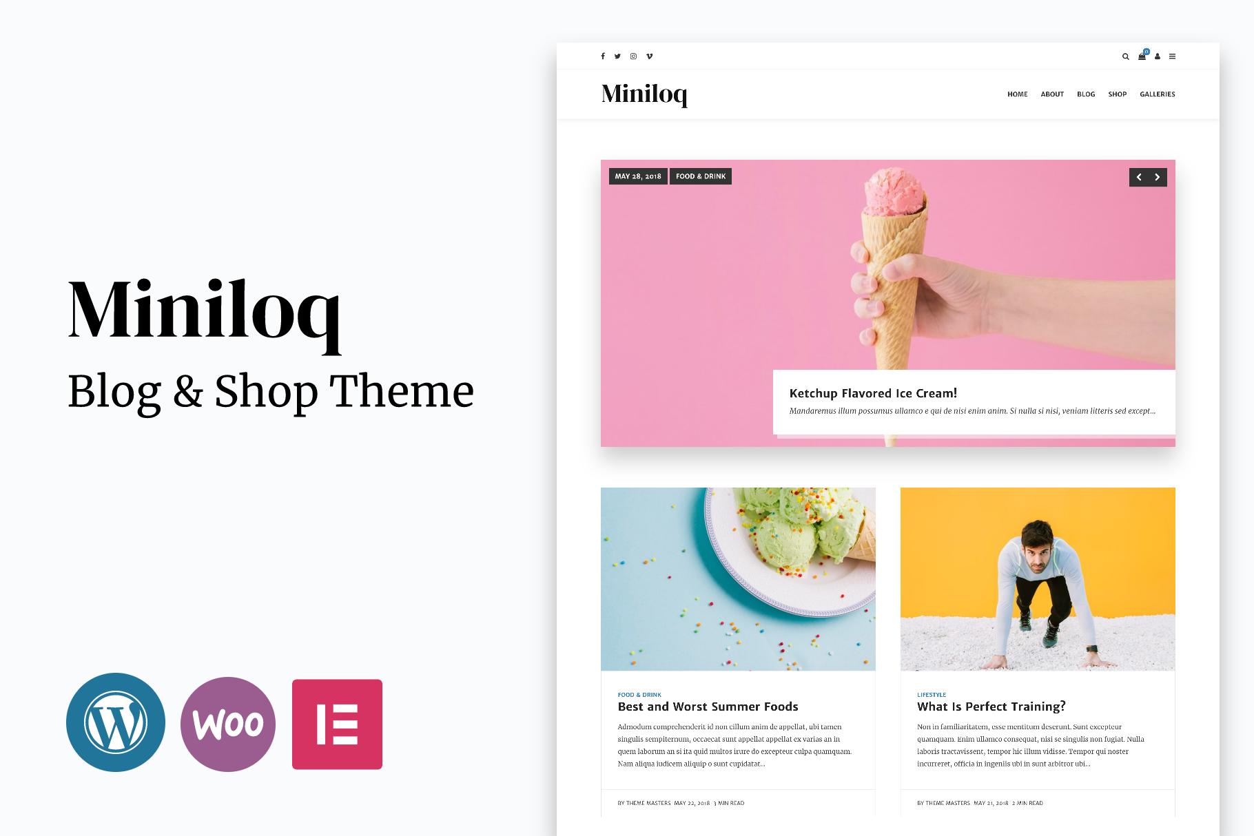 Miniloq - Personal WordPress Blog & Shop Theme
